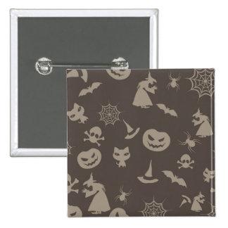 Diseño negro y gris de la diversión de Halloween Pin