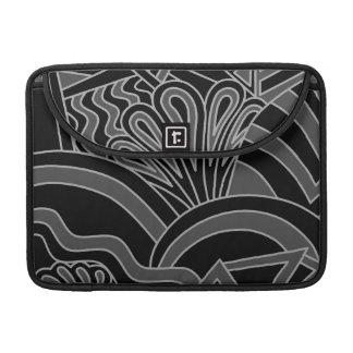 Diseño negro y gris del art déco funda macbook pro