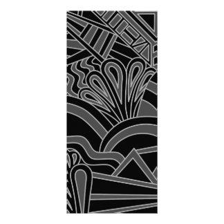 Diseño negro y gris del art déco tarjeta publicitaria a todo color
