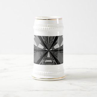 Diseño negro y gris futurista del círculo taza