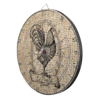 diseño negro y gris rústico del gallo en la arpill