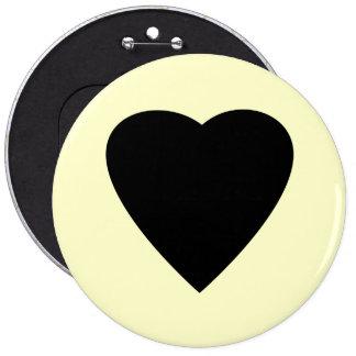 Diseño negro y poner crema del corazón del amor pins