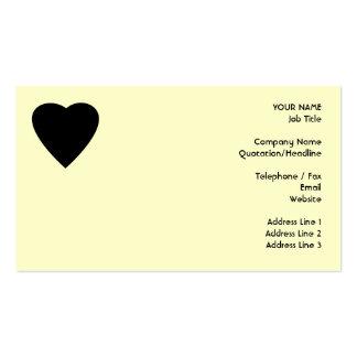 Diseño negro y poner crema del corazón del amor plantillas de tarjetas de visita