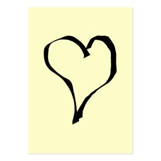 Diseño negro y poner crema del corazón del amor plantilla de tarjeta de negocio