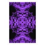 Diseño negro y púrpura gótico tarjetas publicitarias