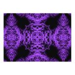 Diseño negro y púrpura gótico invitación 12,7 x 17,8 cm