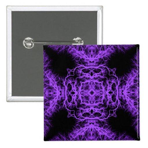 Diseño negro y púrpura gótico pin