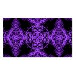 Diseño negro y púrpura gótico tarjetas de visita