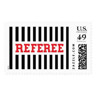 Diseño negro y rojo del árbitro estampillas
