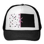 Diseño negro y rosado del lunar gorros