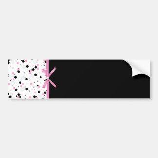 Diseño negro y rosado del lunar pegatina para auto