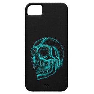 Diseño negro y verde del cráneo del vampiro iPhone 5 fundas