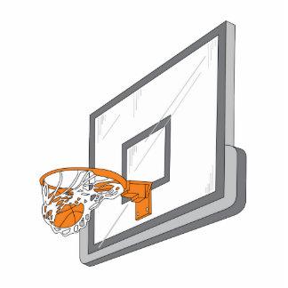 diseño neto del vector del tiro del baloncesto esculturas fotográficas