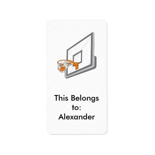 diseño neto del vector del tiro del baloncesto etiquetas de dirección