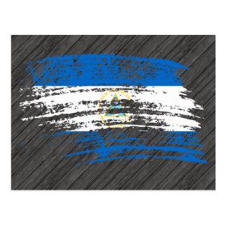 Diseño nicaragüense fresco de la bandera tarjeta postal