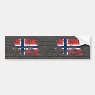 Diseño noruego fresco de la bandera pegatina de parachoque