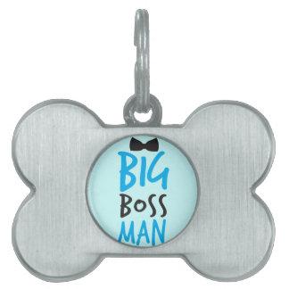Diseño NP del hombre del gran jefe Placas De Nombre De Mascota