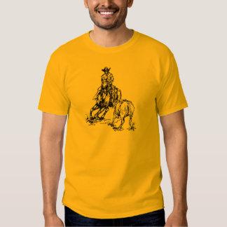 Diseño occidental del bosquejo del caballo del playera
