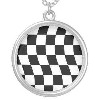 Diseño ondulado blanco y negro del control colgante redondo