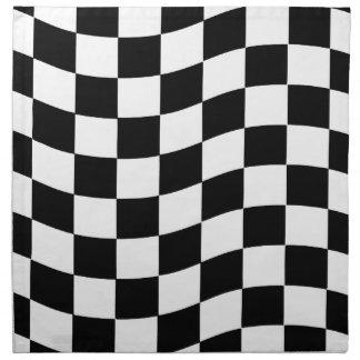 Diseño ondulado blanco y negro del control servilleta de papel