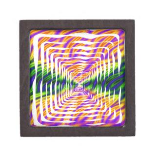 Diseño ondulado caja de regalo de calidad