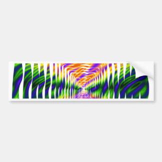 Diseño ondulado pegatina para auto