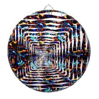 Diseño ondulado tablero dardos