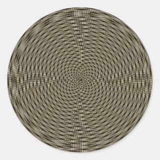 Diseño óptico del remolino pegatina redonda