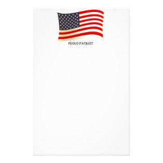 Diseño orgulloso de la bandera americana del patri papelería de diseño