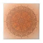 Diseño oriental anaranjado bonito teja