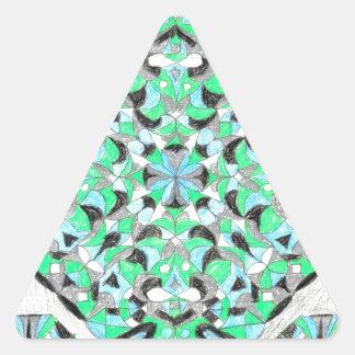 ¡Diseño oriental de la plata y de la manta del Pegatina Triangular