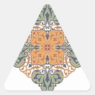 Diseño oriental del modelo del vintage pegatina triangular