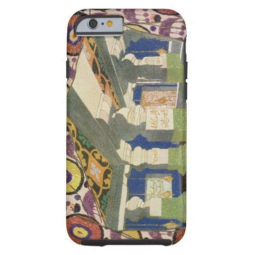 Diseño oriental del paisaje (litho) del color 2 funda resistente iPhone 6