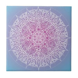 Diseño oriental púrpura azul bonito teja  ceramica