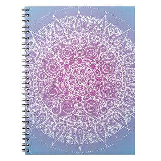 Diseño oriental púrpura/azul hermoso libros de apuntes