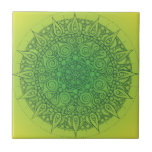 Diseño oriental verde bonito teja  ceramica