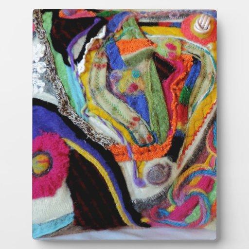 Diseño original colorido abstracto del arte de la  placas para mostrar