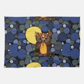 Diseño original colorido del arte abstracto del bú toalla