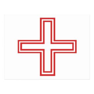 ¡Diseño original de la Cruz Roja! Postales