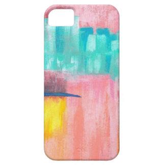 Diseño original de la pintura del arte abstracto d iPhone 5 cárcasa