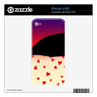 Diseño original de los corazones calcomanías para iPhone 4S