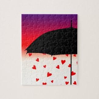 Diseño original de los corazones puzzle