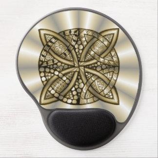 Diseño original del arte del nudo céltico del oro alfombrilla de raton con gel