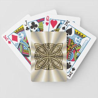 Diseño original del arte del nudo céltico del oro baraja cartas de poker