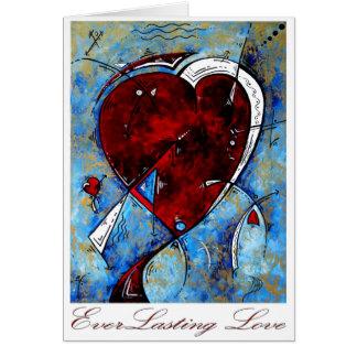 """Diseño original del corazón del """"amor eterno"""" por  tarjeta de felicitación"""