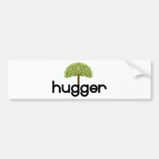¡Diseño original del hugger del árbol! Pegatina De Parachoque