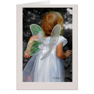 "Diseño original del jjhelene del ""ángel"" - tarjeta"