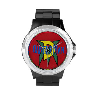 Diseño original del logotipo del super héroe urban reloj