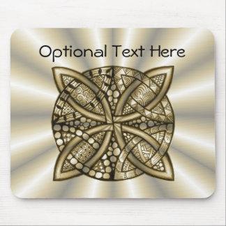 Diseño original del nudo céltico del oro tapete de ratones