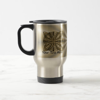 Diseño original del nudo céltico del oro taza de viaje de acero inoxidable